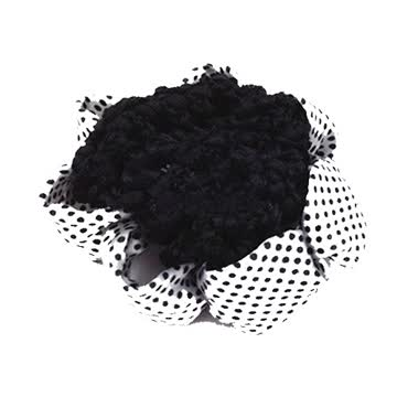 Neu! Haarband weiss-schwarz Polka dots