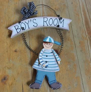 Boys Room Türhänger