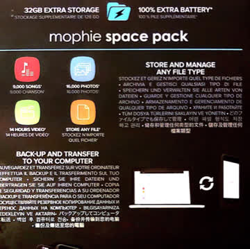 Mophie Space Pack 32GB für iPhone 6/6S