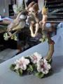 Elfenfigur Mädchen mit Vogel