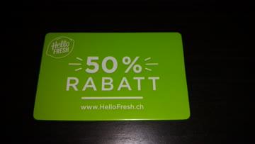 50%. Gutschein auf die erste Hello Fresh Box