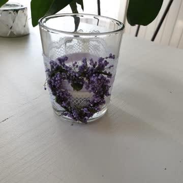 Kerzenglas lavendel