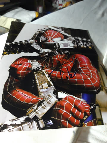 Originalautogramm aus Spiderman