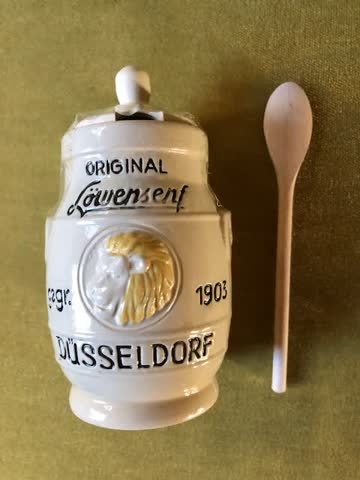 Ton-Keramik Topf für Senf (Neu)
