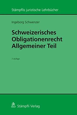 Schweizerisches Obligationenrecht, Allgemeiner Teil