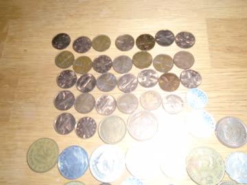 73 ausländische münzen und 1 Räppler