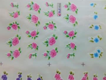 Nailsticker Blumen 1 Bogen von BLE Original verschweisst