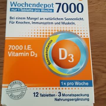 tetesept Vitamin D3 Wochendepot 7000