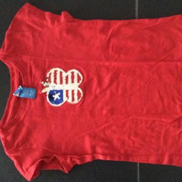 T-Shirt Gr. 7/8, mit Pailletten