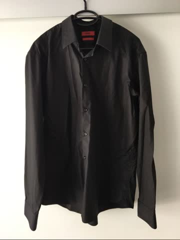 HUGO BOSS Businesshemd Gr. 43 schwarz