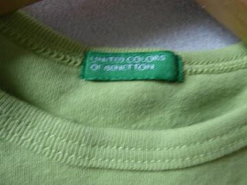 """T-shirt """"Benetton"""", kurzarm, Gr. 74,"""