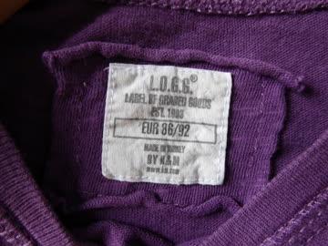 "Trikotkleidchen Gr. 86/92 ""L-O.G.G."" lila"