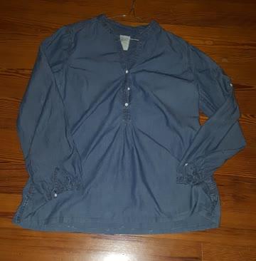 Bluse aus leichtem Jeansstoff