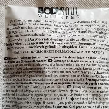 Bodysoul wellness Duschsalz-Peeling