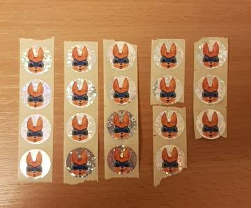 19 Superhäsli - Stickers von Migros