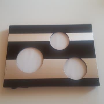 20x27cm Bilderrahmen Rahmen schwarz Silber