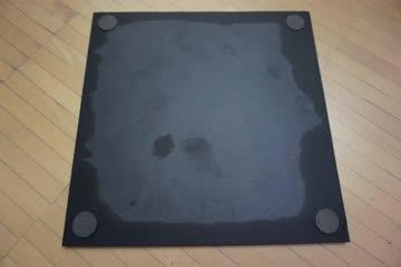 Schöne schwarze viereckige dekorative Schieferplatte (28cm)