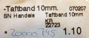 Taftband h'grau-silber Länge 19,5 Meter, Breite 1 cm