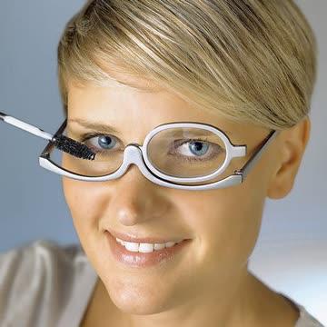 Schminkbrille. Silberfarbig. 1,5 dpt.