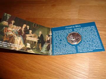 Wolfgang Amadeus Mozart 5 EURO-MÜNZE Österreich