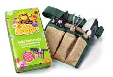 Bee Happy Gärtnerset und 2 Saatkugel-Säckli