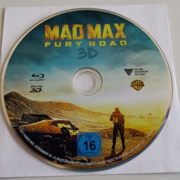 MAD MAX Fury Road 3D Blu-ray