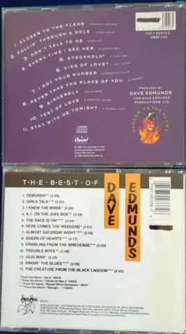 "2 cd's ""dave edmunds"" (=ex love sculpture)"