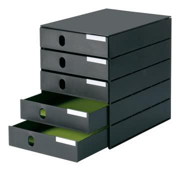 Schubladenelement styroval mit 5 Schubladen Schubladenbox