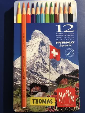 10 Farbstifte (gemischt) in Caran D'Ache - Prismalo Etui