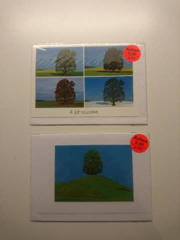 """""""Bäume"""" Doppelkarten-Set"""