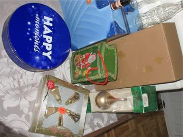 Deko-Set Dekoration X-Mas & Geschenk Dosen/Boxen Cola Flasch
