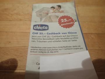 Gutschein Chicco 25.- geschenkt