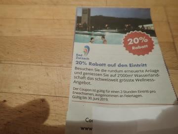 Gutschein Bad Zurzach 20% Rabatt