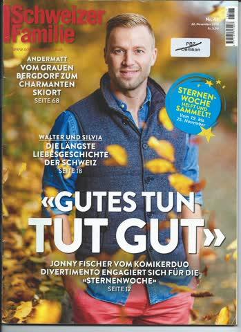 Schweizer Illustrierte Nr. 47 / 22. November 2018