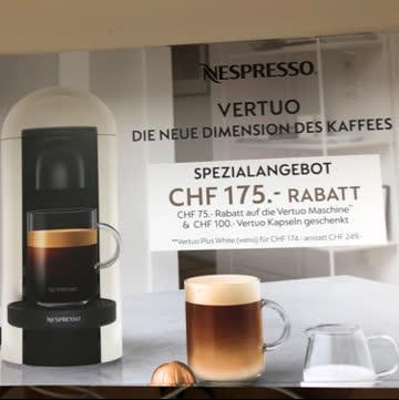 Gutscheincode für Kauf einer Nespresso Vertuo