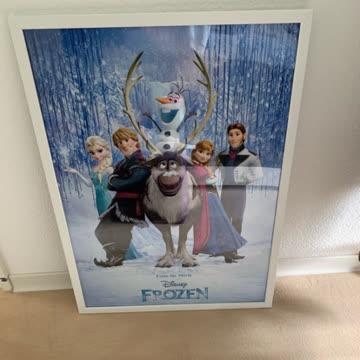Poster Frozen mit Rahmen