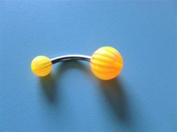 Bauchnabel-Piercing Banane gelb/orange