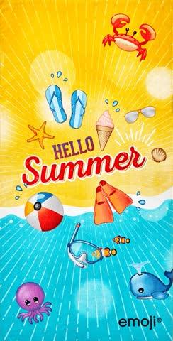 1 Badetuch - emoji Sommer