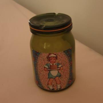 Glasbehälter mit Bild
