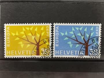 1962 Europamarken ET-Stempel