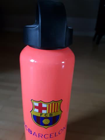 Original Trinkflasche FC Barcelona, mit Unterschriften, neu