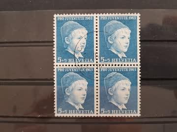 1965 Viererblock Pro Juventute
