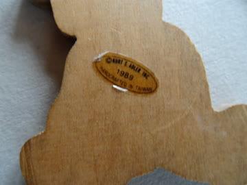 Bär aus Holz - Bär aus Metall - 2 Anhänger