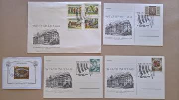 Weltspartag 31. Oktober 1966, 1150 Wien - Brief + Postkarten