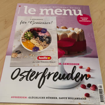 Le Menu.   Nr. 4 / April 2019