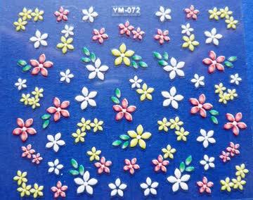 Nail Art Sticker Blumen 1 Bogen