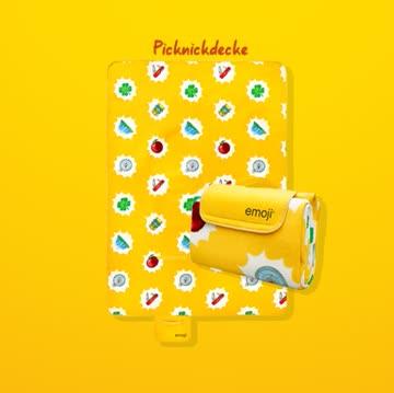 Coop Emoji Sommer 1 Picknickdecke