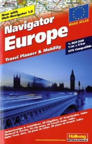 Navigator Europe Autoatlas 1:800.000: Travel Planner & Mobility