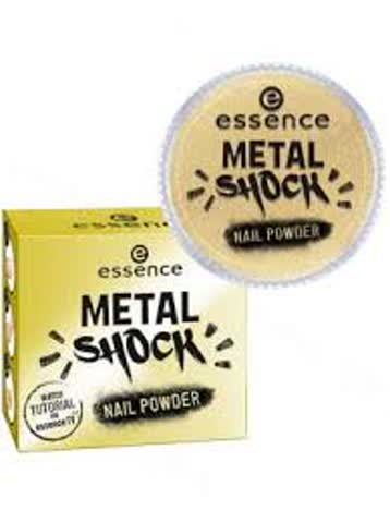 essence Metal Shock Nail Powder Nagelüberlack Gold