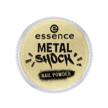 essence Metal Shock Nail Powder Nagelüberlack Gold